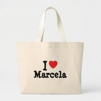 Amo la camiseta del corazón de Marcela Bolsa