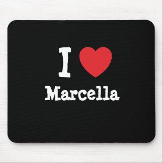 Amo la camiseta del corazón de Marcela Alfombrillas De Raton