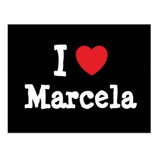 Amo la camiseta del corazón de Marcela Postales