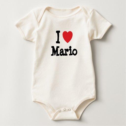 Amo la camiseta del corazón de Mario