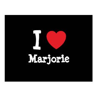 Amo la camiseta del corazón de Marjorie Postales