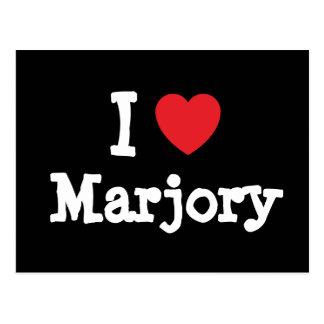Amo la camiseta del corazón de Marjory Postal