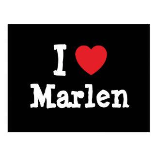 Amo la camiseta del corazón de Marlen Postal