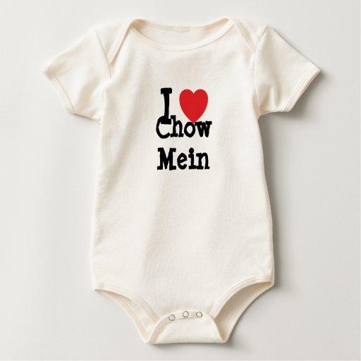 Amo la camiseta del corazón de Mein del perro Mameluco De Bebé