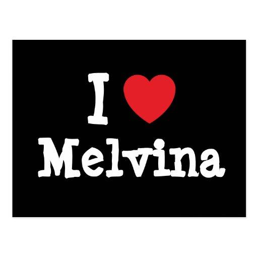 Amo la camiseta del corazón de Melvina Postales