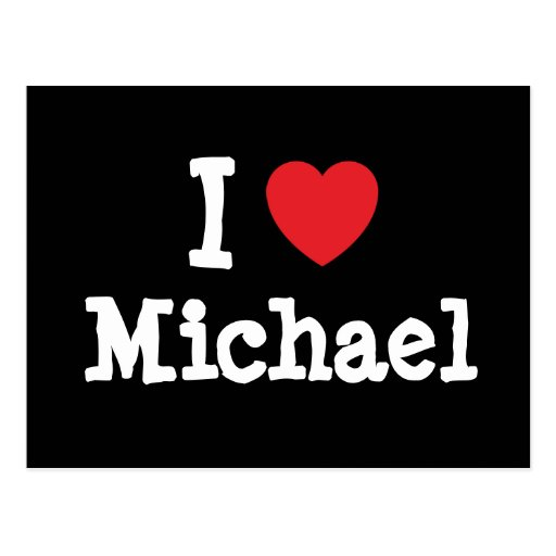 Amo la camiseta del corazón de Michael Postal