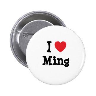 Amo la camiseta del corazón de Ming Pins