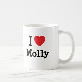 Amo la camiseta del corazón de Molly Taza De Café