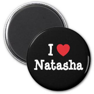 Amo la camiseta del corazón de Natasha Iman De Nevera
