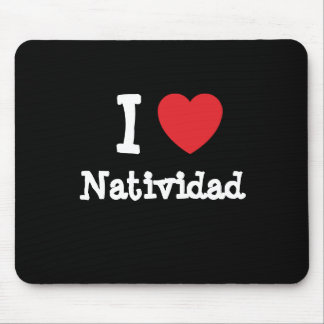 Amo la camiseta del corazón de Natividad Alfombrillas De Ratones