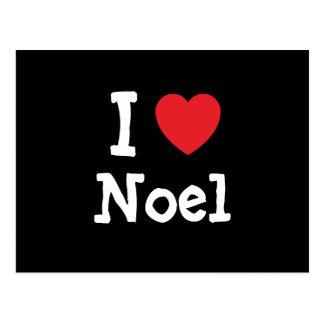 Amo la camiseta del corazón de Noel Postal
