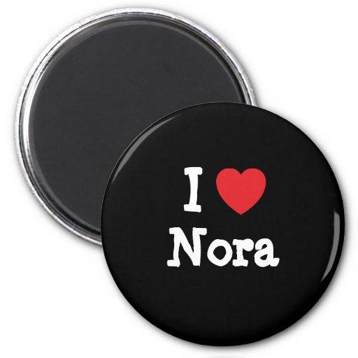 Amo la camiseta del corazón de Nora Imán Redondo 5 Cm