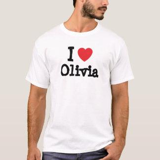 Amo la camiseta del corazón de Olivia