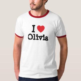 Amo la camiseta del corazón de Olivia Playera