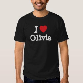 Amo la camiseta del corazón de Olivia Playeras
