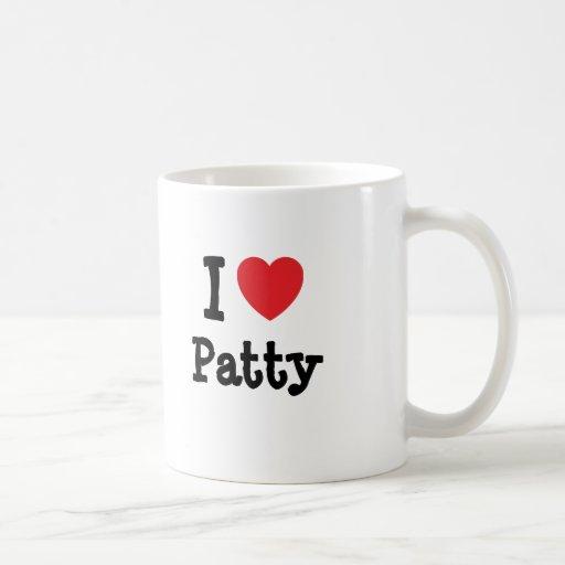 Amo la camiseta del corazón de Patty Tazas De Café