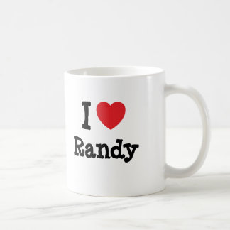 Amo la camiseta del corazón de Randy Taza De Café