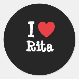 Amo la camiseta del corazón de Rita Etiqueta