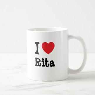 Amo la camiseta del corazón de Rita Taza