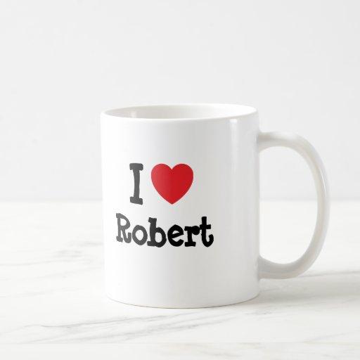 Amo la camiseta del corazón de Roberto Tazas De Café