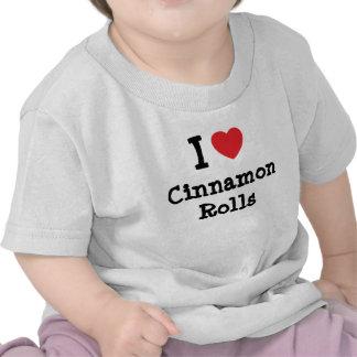 Amo la camiseta del corazón de Rolls del canela