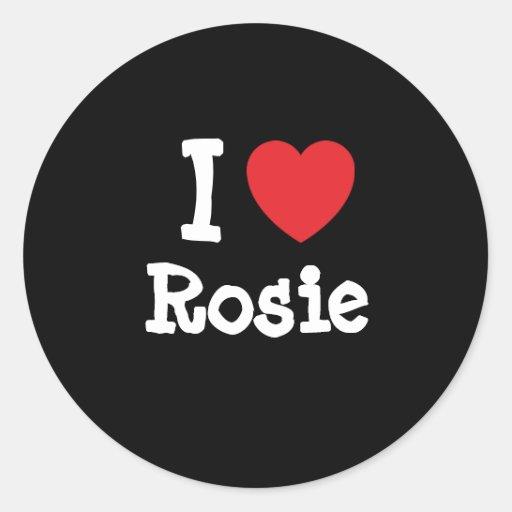 Amo la camiseta del corazón de Rosie Etiquetas