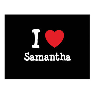 Amo la camiseta del corazón de Samantha Postales