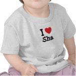 Amo la camiseta del corazón de Sha