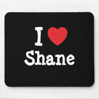 Amo la camiseta del corazón de Shane Tapetes De Ratones