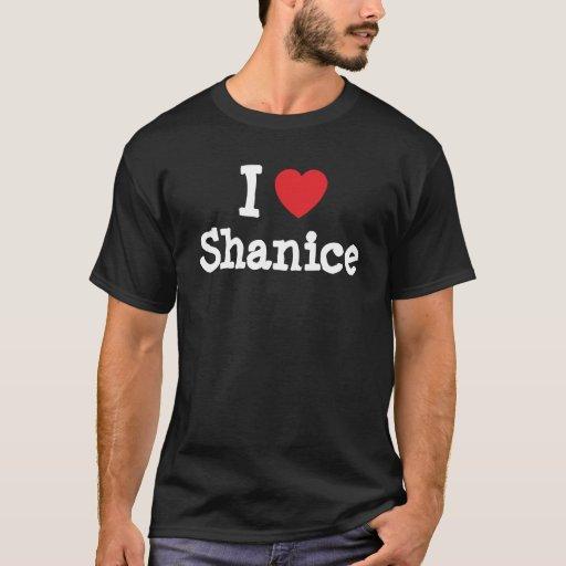 Amo la camiseta del corazón de Shanice