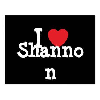 Amo la camiseta del corazón de Shannon Postal