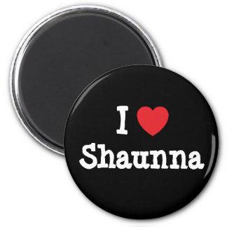 Amo la camiseta del corazón de Shaunna Imán Redondo 5 Cm