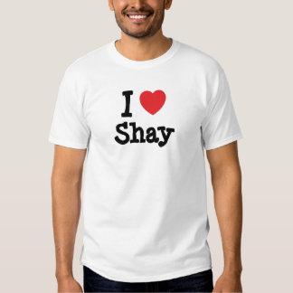 Amo la camiseta del corazón de Shay Playera
