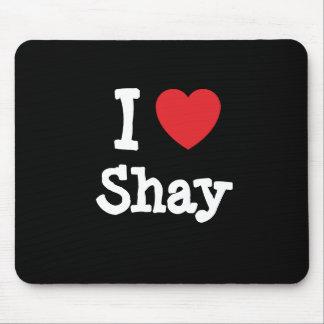 Amo la camiseta del corazón de Shay Tapete De Ratón