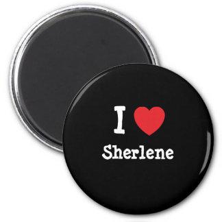 Amo la camiseta del corazón de Sherlene Imán Redondo 5 Cm