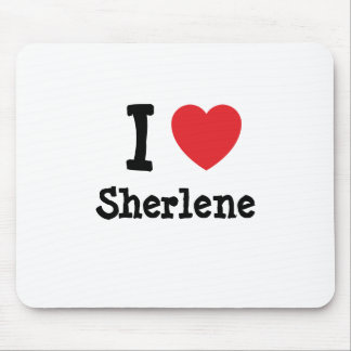 Amo la camiseta del corazón de Sherlene Tapete De Ratón
