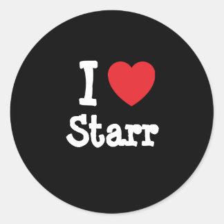 Amo la camiseta del corazón de Starr Pegatina