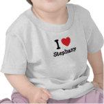 Amo la camiseta del corazón de Stephany