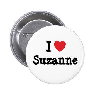 Amo la camiseta del corazón de Susana Pin Redondo De 2 Pulgadas