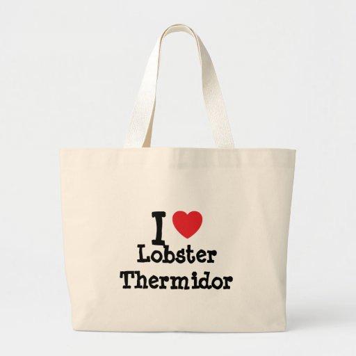 Amo la camiseta del corazón de Thermidor de la lan Bolsa Tela Grande