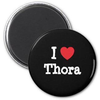 Amo la camiseta del corazón de Thora Imán Redondo 5 Cm