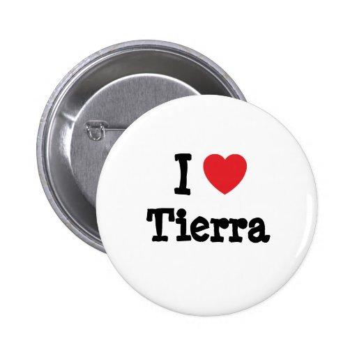 Amo la camiseta del corazón de Tierra Pins