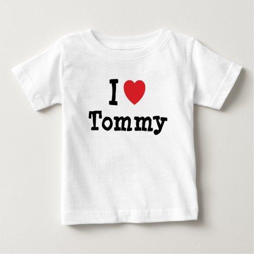 Amo la camiseta del corazón de Tommy Playera