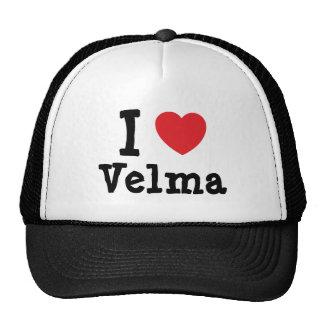 Amo la camiseta del corazón de Velma Gorros