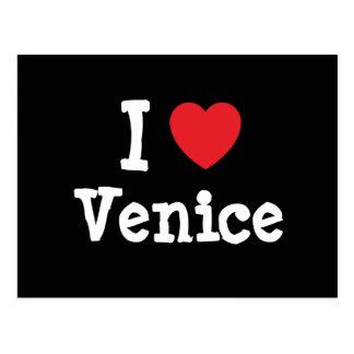 Amo la camiseta del corazón de Venecia Tarjetas Postales