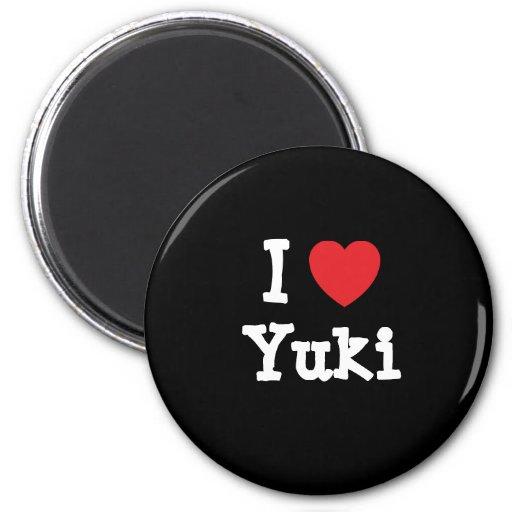 Amo la camiseta del corazón de Yuki Iman