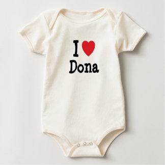 Amo la camiseta del corazón del Dona Mamelucos