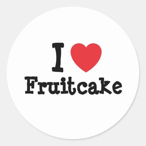 Amo la camiseta del corazón del Fruitcake Etiqueta