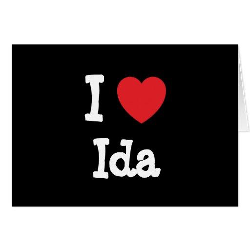 Amo la camiseta del corazón del Ida Tarjeta