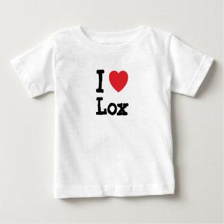 Amo la camiseta del corazón del Lox Playeras
